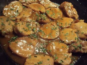 Filets de porc sauce moutarde