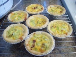 Mini quiches au poireau