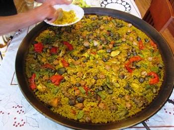 Paella express chorizo lardons avec cookeo