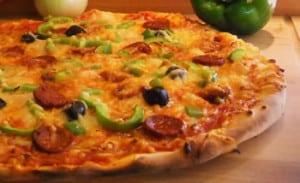 Pizza Poivrons-Chorizo avec thermomix