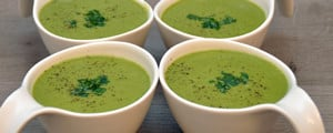Soupe aux haricots verts et petits pois