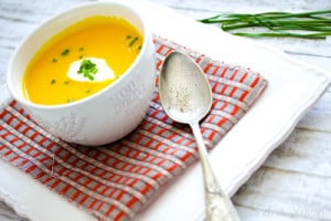 Soupe de carottes au gingembre avec thermomix