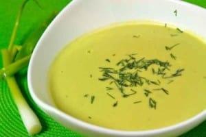 Soupe poireaux pommes de terre avec thermomix