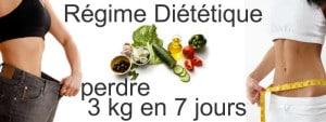 3 kg en 7 jours