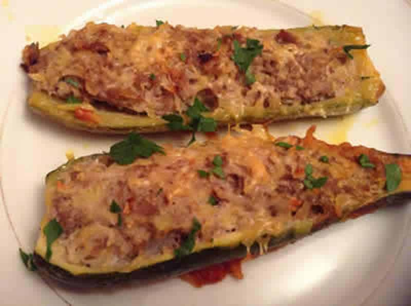 courgettes farcies au thon avec thermomix recette thermomix. Black Bedroom Furniture Sets. Home Design Ideas