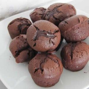 Muffin chocolat coeur de nutella