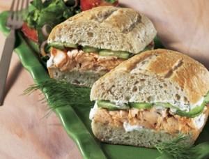 Sandwich au saumon sans gluten