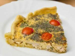 Quiche au poulet tomates et ciboulette facile