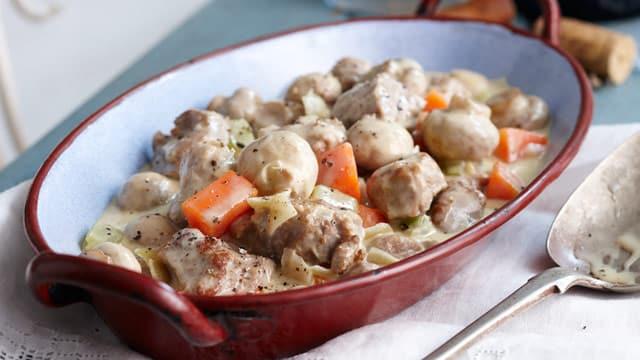 Blanquette de veau avec vin Blanc Cookeo