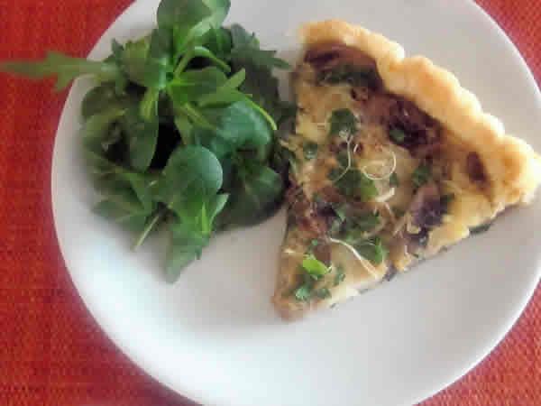 Recette Tarte verte au jambon et cantal