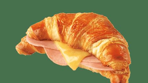 Recette Croissant au jambon fromage