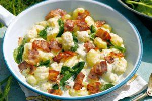 Recette Gnocchis aux lardons et roquefort cookeo