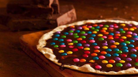 Recette Pizza au chocolat et m&m's thermomix