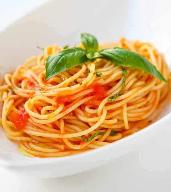 Recette Spaghetti sauce tomate basilic