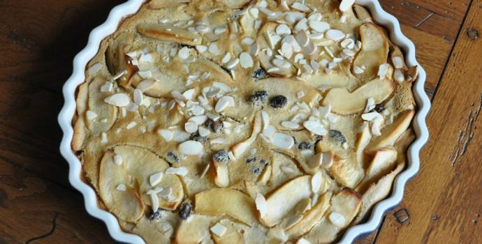 Recette facile Clafoutis aux Pommes et raisins secs thermomix