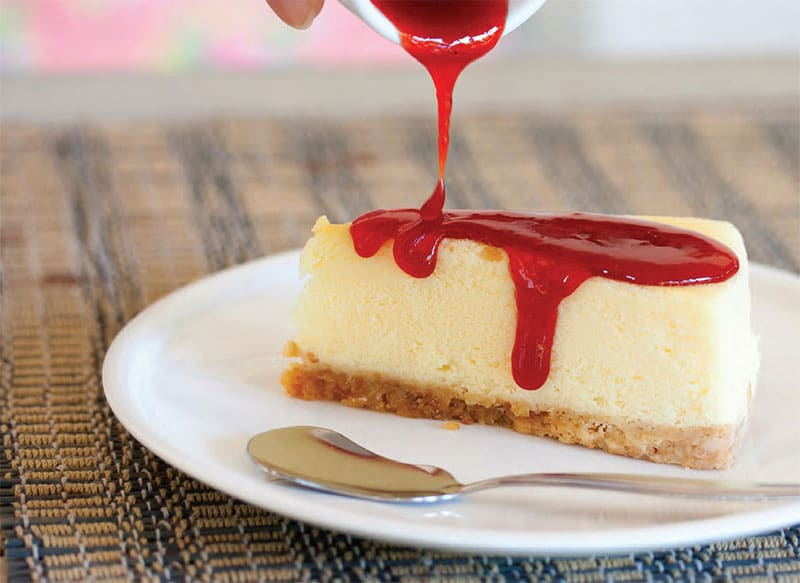 cheesecake am ricain au coulis de fraise thermomix. Black Bedroom Furniture Sets. Home Design Ideas