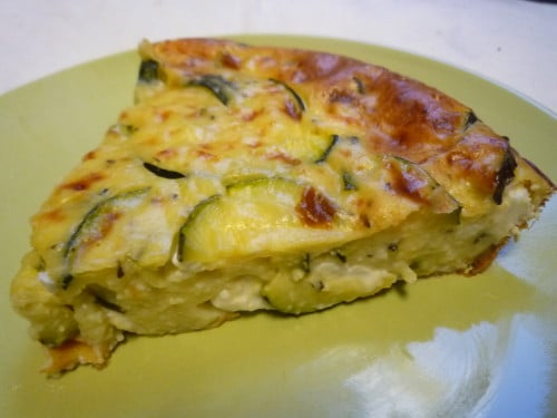 clafoutis courgettes et fromage de ch vre thermomix. Black Bedroom Furniture Sets. Home Design Ideas