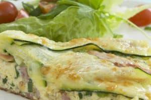 Flan de courgettes jambon et mozzarella thermomix