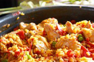 Paella au poulet rapide avec cookeo