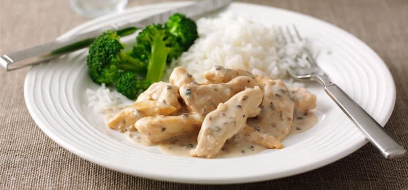 Poulet riz sauce champignon au cookeo