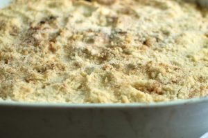 Crumble aux courgettes fromage et herbes thermomix