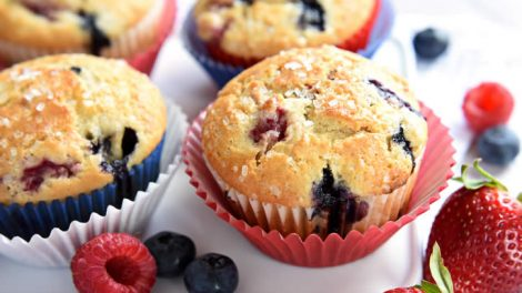 Muffins extra aux fruits rouges thermomix