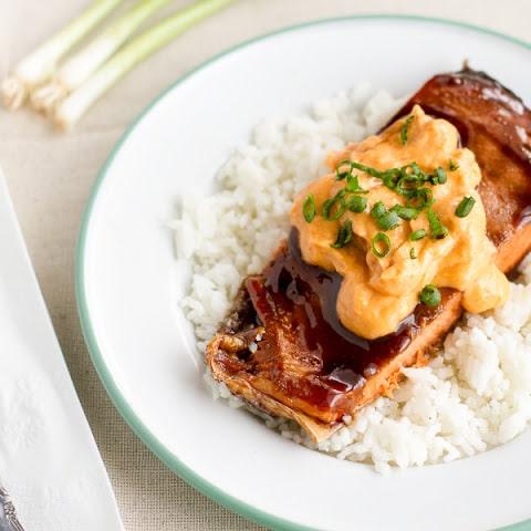Pavé de saumon au riz et sauce hollandaise thermomix