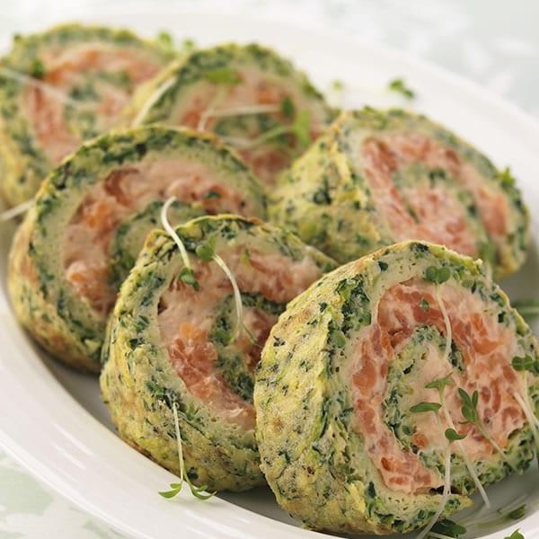 Roul au courgettes et saumon fum thermomix - Cuisine legere thermomix ...