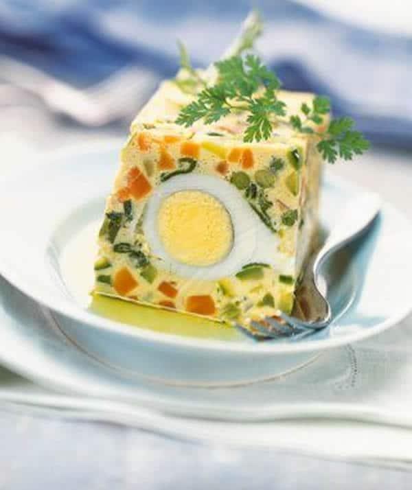 Terrine aux ufs et petits l gumes thermomix - Terrine de legumes facile et rapide ...