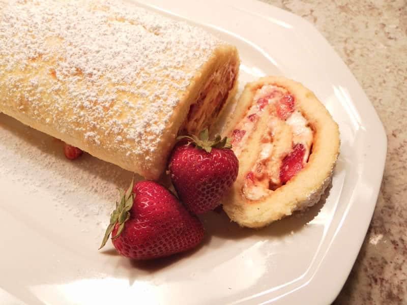 Gateau fraise mascarpone thermomix