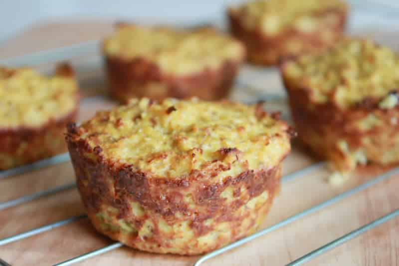 Muffins courgettes et saumon au Thermomix