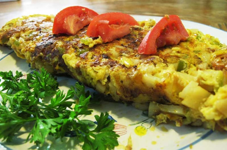 Omelette Basquaise light au cookeo
