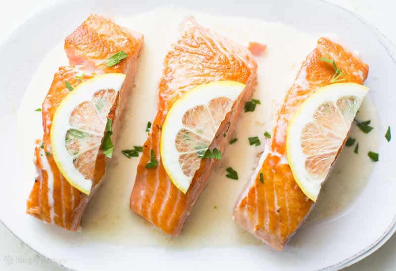 Saumon et petits l gumes sauce citron l g re avec thermomix - Cuisine legere thermomix ...