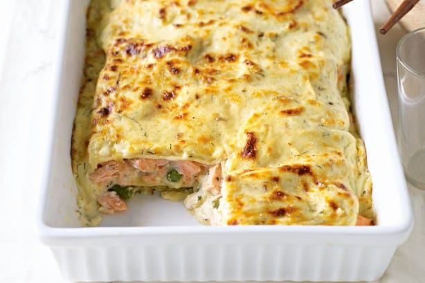 Lasagne au saumon et poireaux avec thermomix