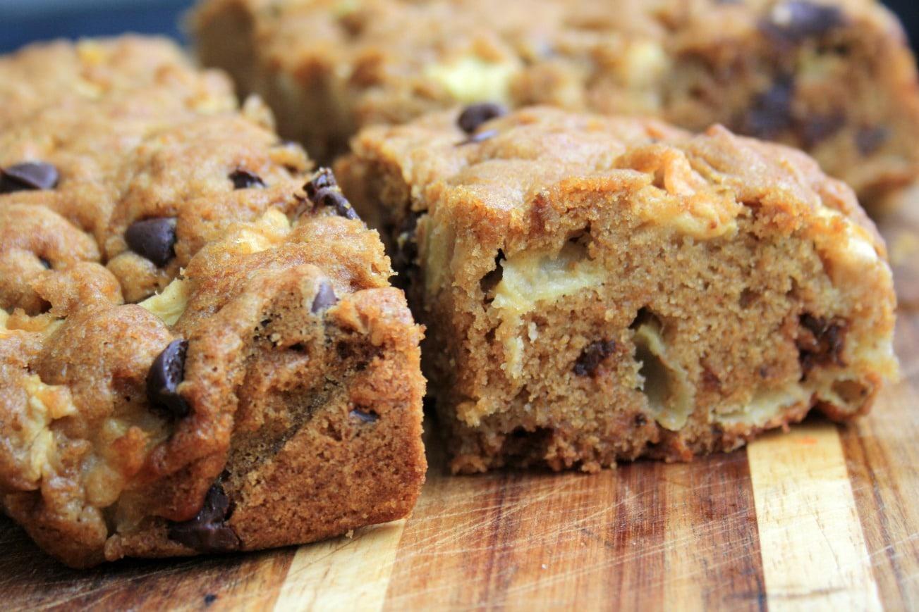 G teau rapide aux pommes et p pites de chocolat avec thermomix - Gateau au chocolat rapide thermomix ...