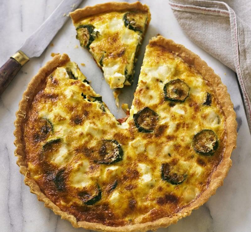 Tarte courgette jambon et fromage de ch vre au thermomix - Recette pour courgettes au thermomix ...