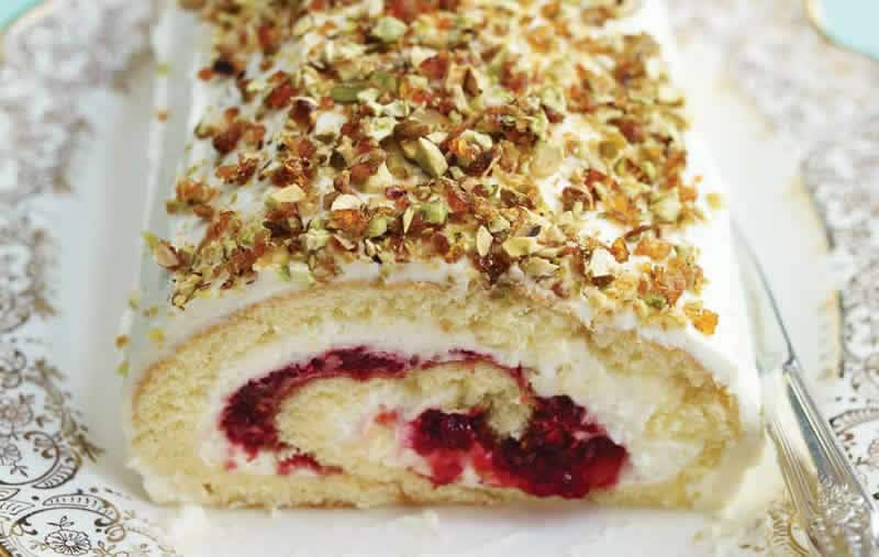 Bûche Noel fromage blanc framboises au thermomix