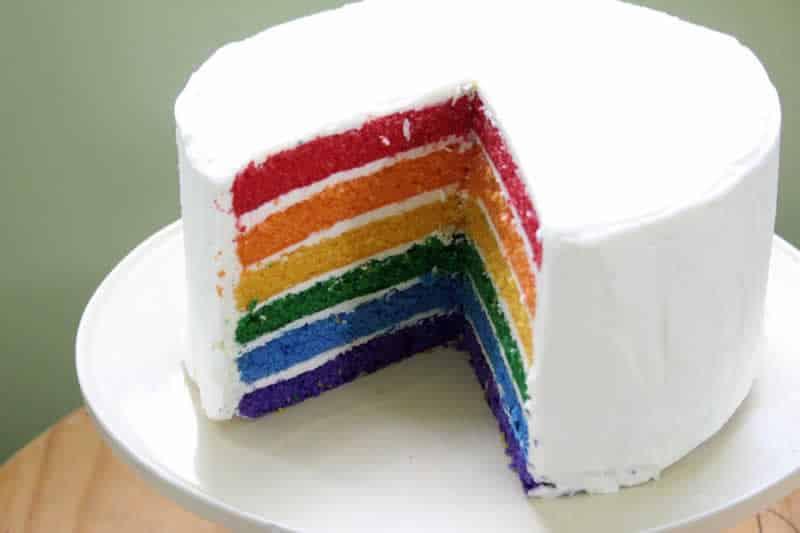 Rainbow Cake Au Chocolat Licorne