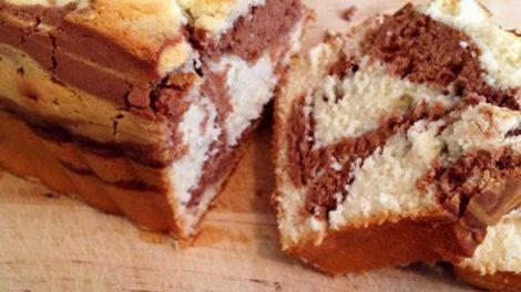 Cake marbre moelleux au chocolat facile avec thermomix