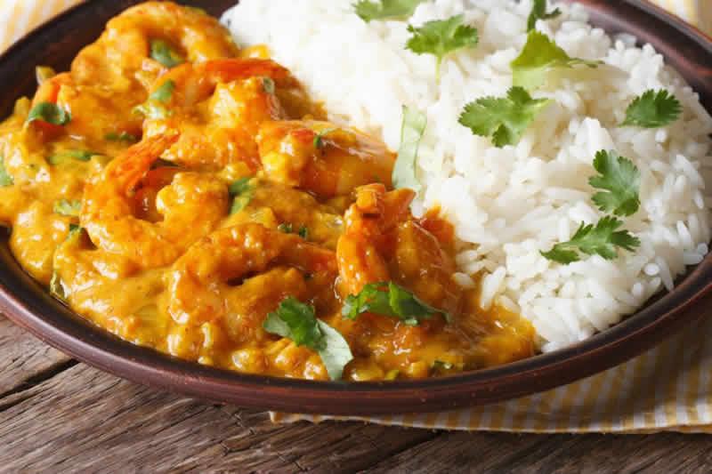 Crevettes au coco et curry avec thermomix