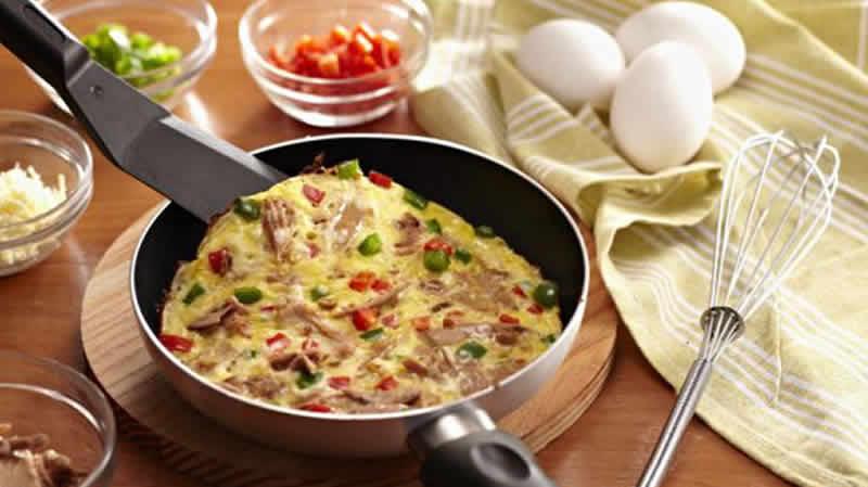 Omelette poivron thon au thermomix