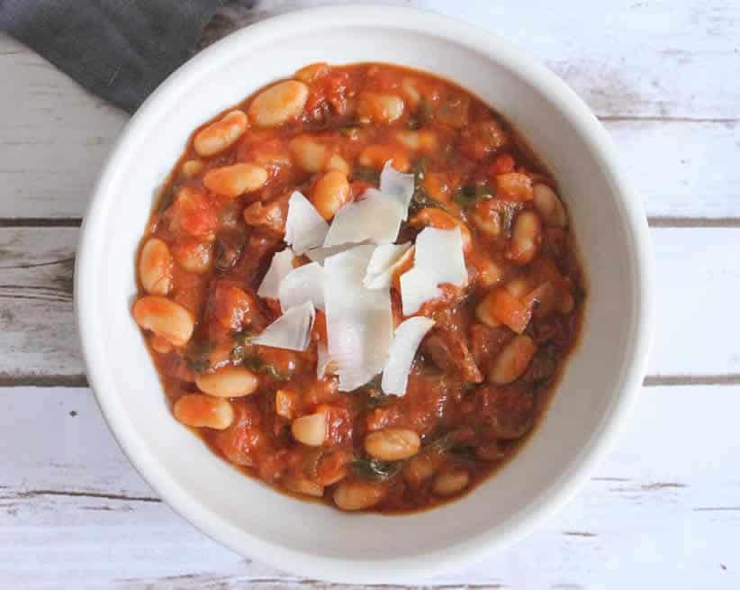 Ragoûts de haricots blancs au tomate avec thermomix