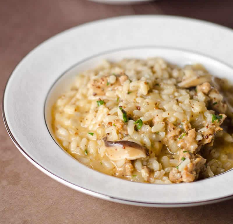 Risotto poulet chorizo et champignons au thermomix