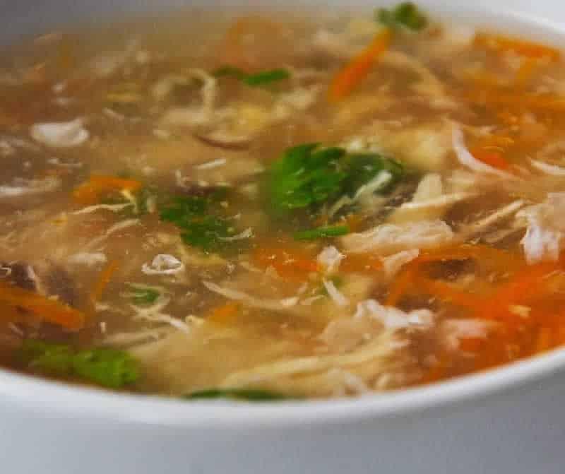 Soupe asiatique au poulet avec thermomix