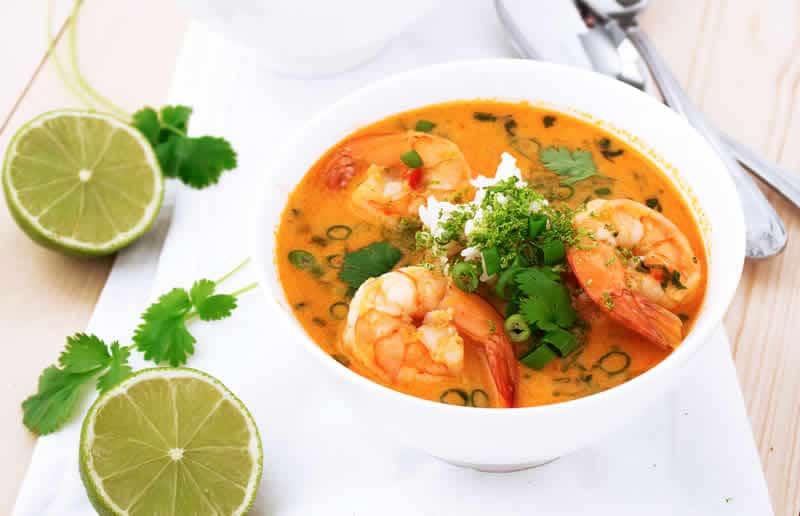 Soupe tha aux crevettes avec thermomix recette thermomix - Recette soupe thermomix ...