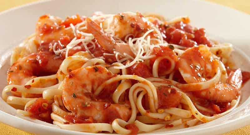 Spaghettis aux Crevettes facile avec thermomix