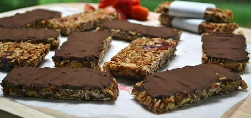 Barres de céréales et chocolat au thermomix