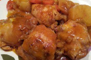 Hauts de cuisses et carottes au cookeo