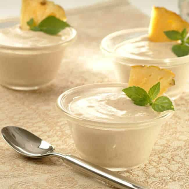 Mousse d'ananas au thermomix
