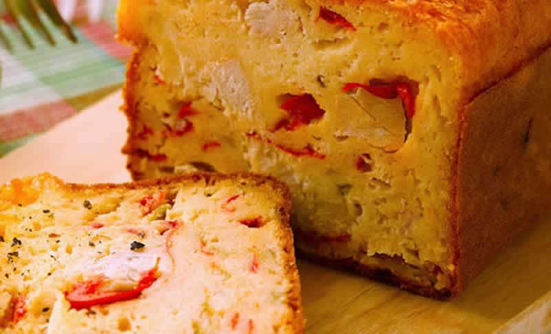 Cake salé thon et poivrons au thermomix